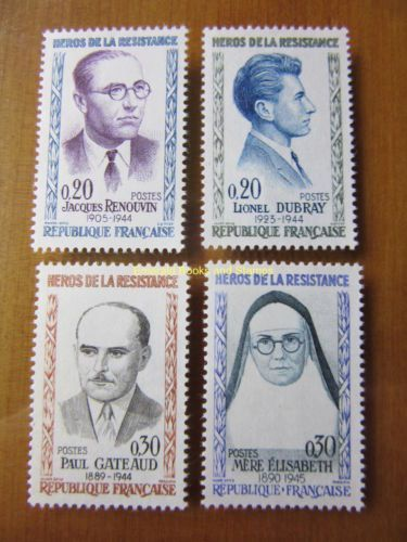 France Heroes of the Resistance mnh 1961
