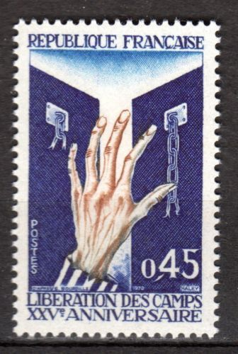 France Liberation from Concentration Camps mnh 1970