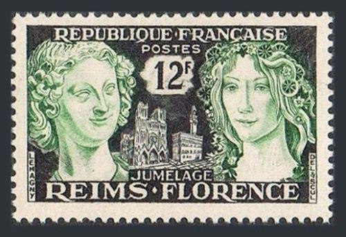 France Reims Florence Friendship mnh 1956