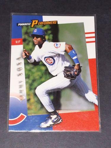MLB SAMMY SOSA CUBS 1998 PINNACLE PERFORMERS INSERT #41 GD-VG