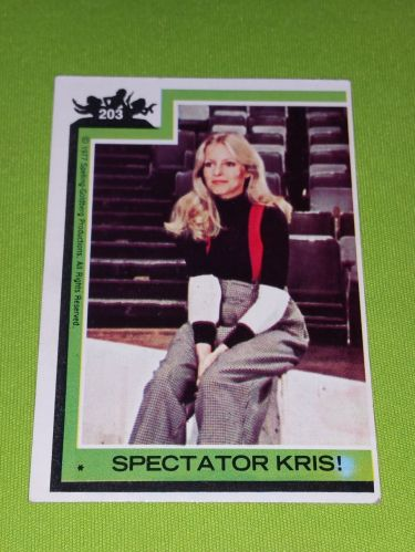 VINTAGE 1977 CHARLIES ANGELS TELEVISION SERIES COLLECTORS CARD #203 GD-VG