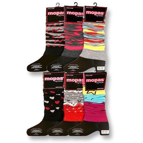 Mopas Leg Warmers Assorted Patterns Warm Winter Wear One Size Fits Most