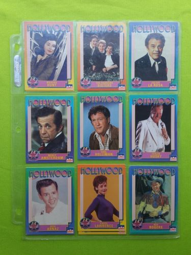 VINTAGE LOT OF 9 1991 STARLINE HOLLYWOOD SUPERSTAR COLLECTORS CARDS LOT #15 GD