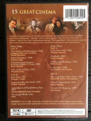 15 GREAT CINEMA 2 DVD ELIZABETH TAYLOR SEAN CONNERY GREGORY PECK CHARLTON HESTON