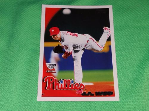 MLB J.a. Happ Phillies Superstar 2010 TOPPS BASEBALL GD-VG