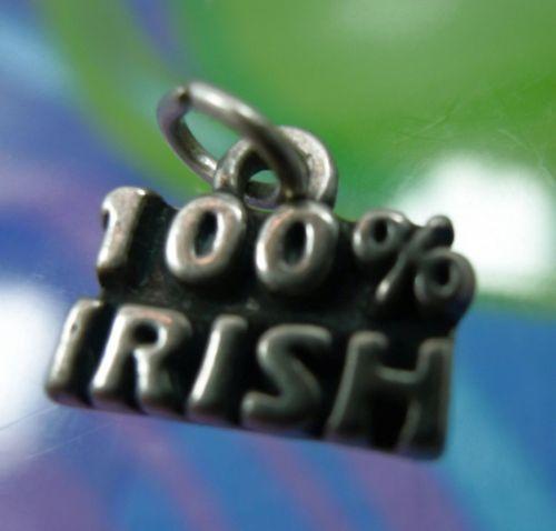 vintage St. Patrick's Day CHARM : sterling 925 silver 100% IRISH by SJC