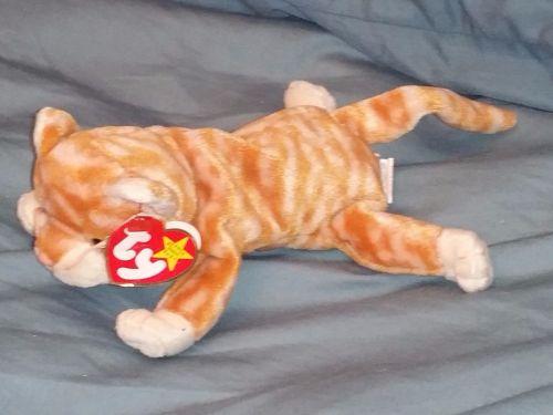 RETRO ORIGINAL TY BEANIE BABY PLUSH AMBER THE CAT COLLECTIBLE NICE