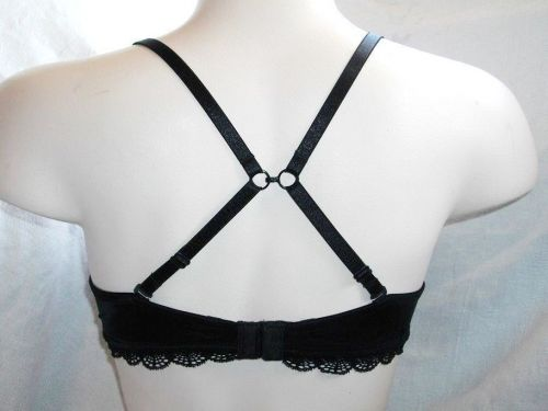 XB0153 DKNY NEW 453605 Black Pretty Smooth Laced Convertible Contour UW Bra 32D
