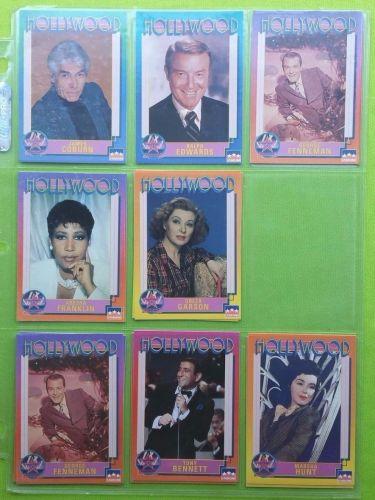 VINTAGE LOT OF 8 1991 STARLINE HOLLYWOOD SUPERSTAR COLLECTORS CARDS LOT #11 GD