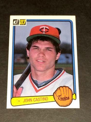 VINTAGE JOHN CASTINO TWINS SUPERSTAR 1983 DONRUSS #303 GD-VG