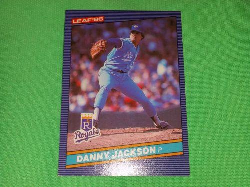 RETRO Danny Jackson Royals 1986 Leaf Baseball GD-VG