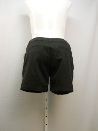 """Faded Glory Women's Chino Shorts Size 16 Solid Black 5 Pocket Mid Rise 40""""X 5"""""""