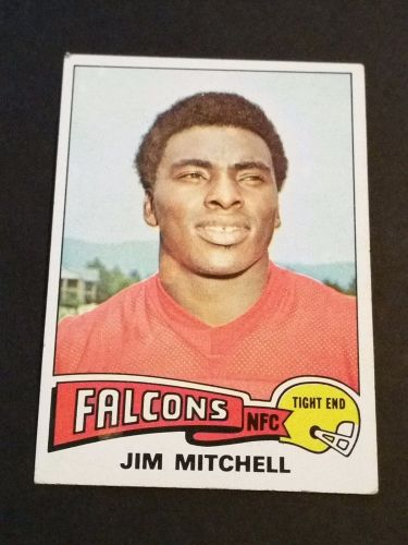 VINTAGE JIM MITCHELL FALCONS 1975 TOPPS FOOTBALL GD-VG