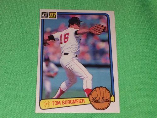 VINTAGE Tom Burgmore Red Sox Superstat 1983 Donruss Baseball GD-VG