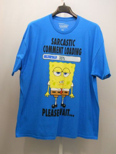 BIG TALL SIZE 2XL Mens T Shirt NICKELODEON Short Sleeved Crew Neck Pullover