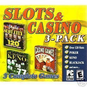 SLOTS & CASINO 3 PACK PC VIDEO GAMES-----NEW