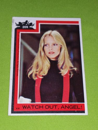 VINTAGE 1977 CHARLIES ANGELS TELEVISION SERIES COLLECTORS CARD #209 GD-VG