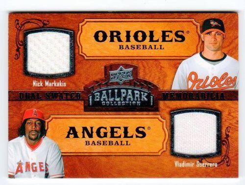 MLB 2008 UPPER DECK NICK MARKAKIS/VLADIMIR GUERRERO DUAL JERSEY MNT