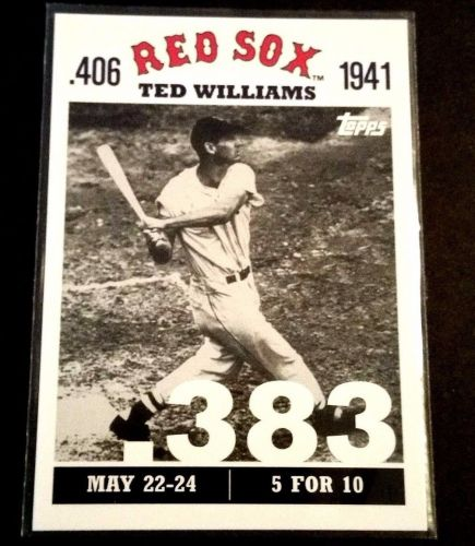 VINTAGE TED WILLIAMS RED SOX HOF 2007 TOPPS COLLECTORS CARD GD-VG