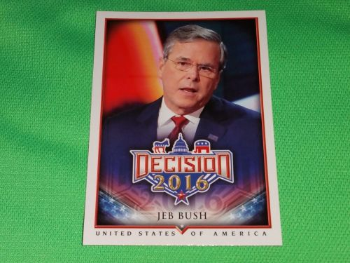 2016 Presidential Decision Influencers Jeb Bush Collectible trading card MNT