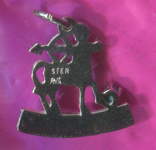 SAGITTARIUS charm TURQUOISE STERLING 925 SILVER ZODIAC HOROSCOPE ASTROLOGY