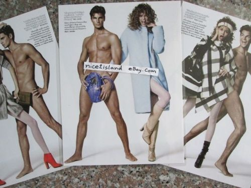 Man NUDE Naked Sexy Pin Up Photo,MARC JACOBS Print Ad 3 Posters 8 x11 Waterproof