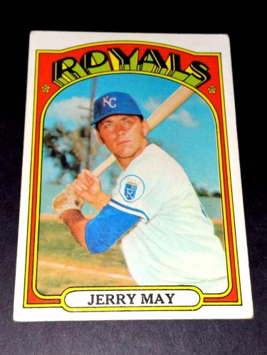 VINTAGE JERRY MAY ROYALS 1972 TOPPS #109 GD-VG