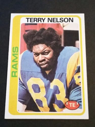 VINTAGE TERRY NELSON RAMS 1978 TOPPS FOOTBALL GD-VG