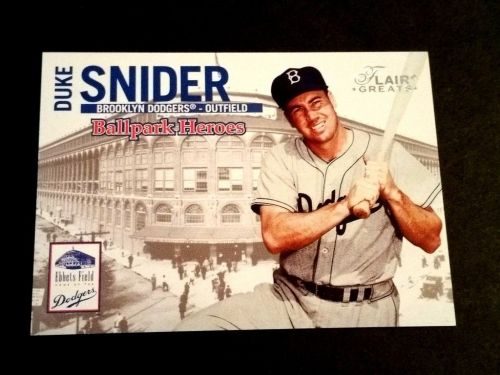 MLB DUKE SNIDER DODGERS HOF 2003 FLEER BASEBALL GREATS INSERT #7/9 GD-VG