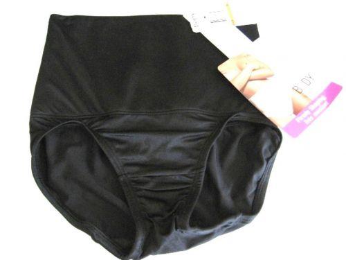 SH0014 Body by Nancy Ganz NEW 6313T Black Firmly Shaping Belly Band Brief M PR