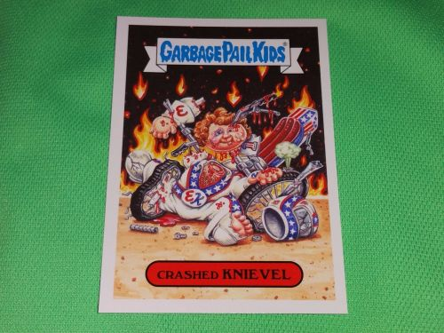 RARE 2016 Crashed Knievel GARBAGE PAIL KIDS Collectors Card Mnt