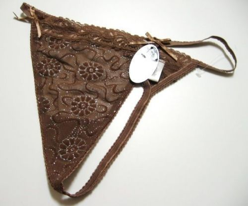 A0333 Next Generation Silver Shimmering Glowing Floral Mesh G-String New