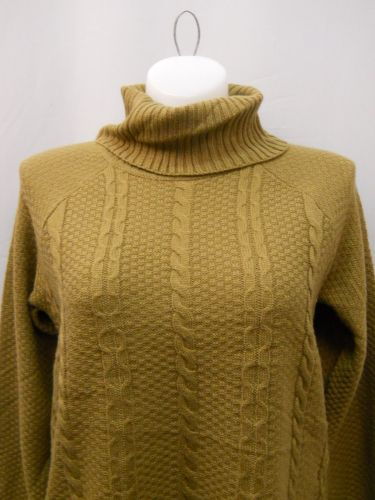 Faded Glory Women's Sweater Size 20 Cable Tunic Turtle Neck Solid Camel Pullover
