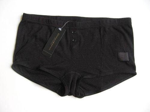 X0298 Donna Karan NEW 375051 Black Women's Pure Stretch Cotton Sleep Shorts L PR