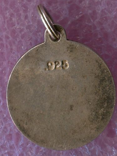 """Vintage Sterling 925 Silver Round """"Grand Mother"""" Charm"""