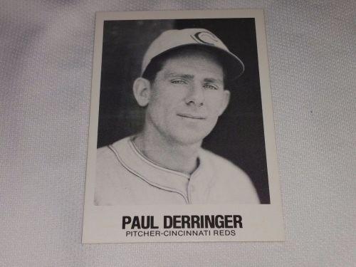 VINTAGE PAUL DERRINGER REDS 1977 TCMA BASEBALL GD-VG