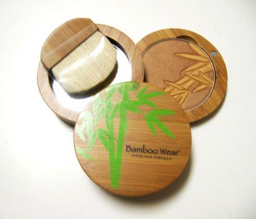 Physicians Formula Bamboo Wear Silk Bronzer Power Mirror Brush Set Made In Italy