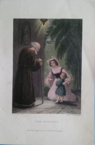 """COLORED ENGRAVING DRAWN BY E.C. WOOD ENGRAVED BY W. RADCLYFFE """"THE COUNSEL"""""""