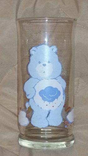 Limited Edition Pizza Hut Care Bears Grumpy Bear Commemorative Collectors Glass