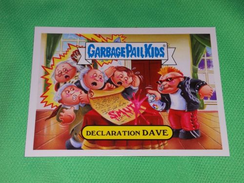 RARE 2016 Declaration Dave GARBAGE PAIL KIDS Collectors Card Mnt