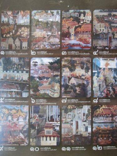 2016 Desk Calendar Buddhist Sabbath Holiday,Antique Mural Temple Wall THAI Art