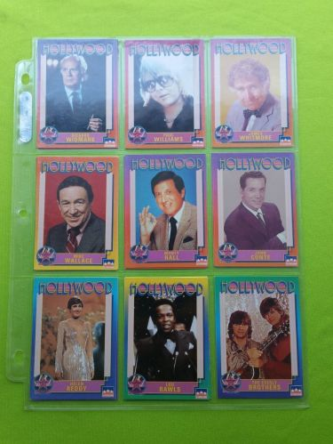 VINTAGE LOT OF 9 1991 STARLINE HOLLYWOOD SUPERSTAR COLLECTORS CARDS LOT #5 GD-VG