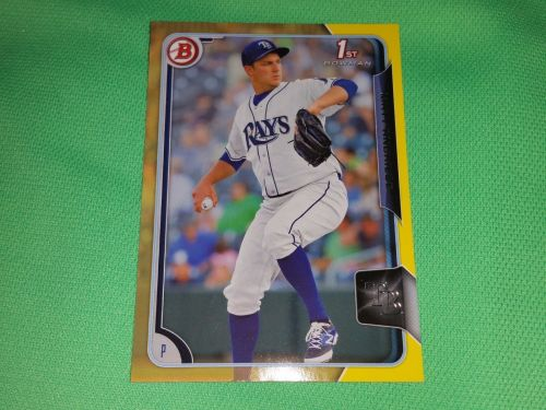 MLB Matt Andres Tampa Bay Rays 2015 TOPPS YELLOW 1st Rookie BASEBALL MNT