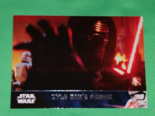 2016 Topps Star Wars kylo Ren's power Collectible Trading Card Mnt