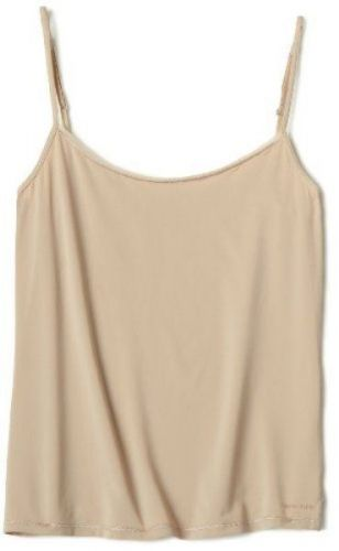 X225 Calvin Klein NEW D3127 Almond Perfectly Fit Solutions Camisole Chemise L PR