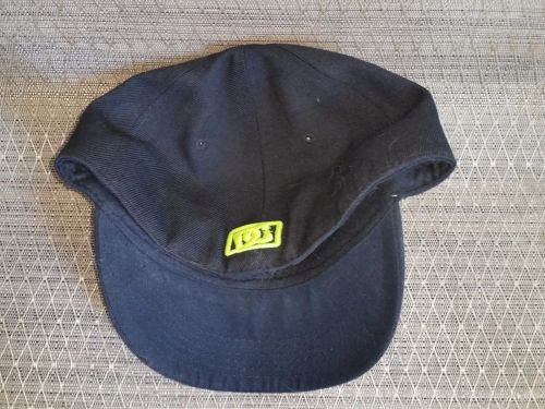 RARE DC Shoes fluorescent Green Logo skateboard fitted hat Size 7