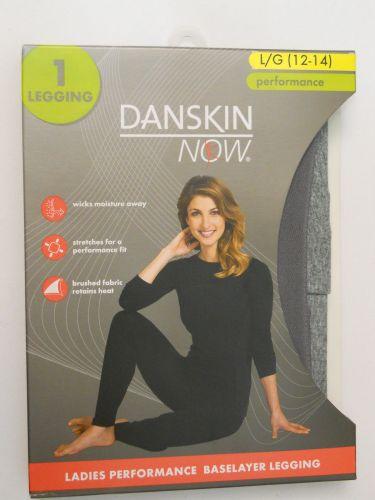 Danskin Now Gray Ladies Performance Baselayer Leggings Size L 12-14 Tagless