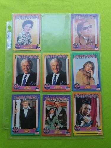 VINTAGE LOT OF 8 1991 STARLINE HOLLYWOOD SUPERSTAR COLLECTORS CARDS LOT #3 GD-VG