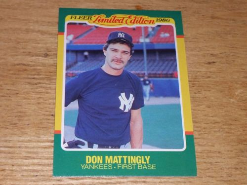 VINTAGE Don Mattingly Yankees 1986 FLLER LIMITED EDITION GLOSSY NMNT