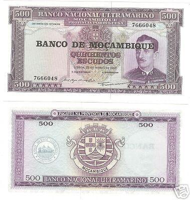 HUGE UNC MOZAMBIQUE 500 ESCUDOS<BEAUTIFUL>FREE SHIPPING